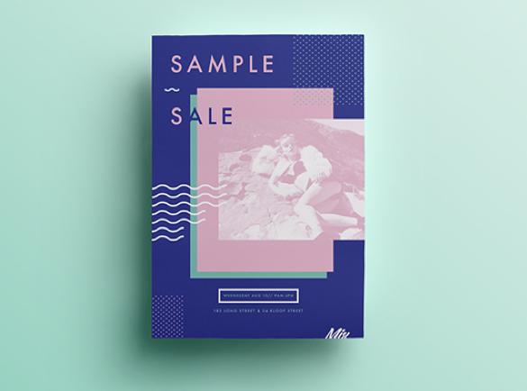 Un minimalisme coloré | 8 Design de flyers pour s'inspirer
