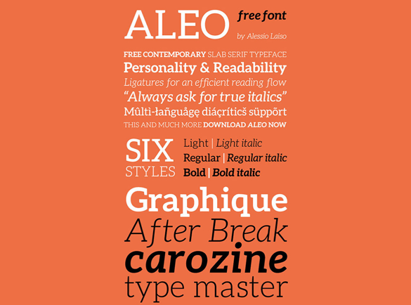 Aleo | Les meilleures police pour vos affiches