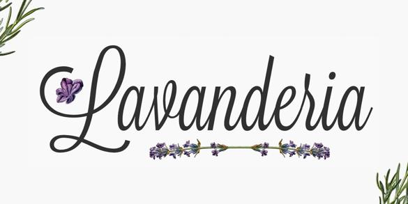 Lavanderia | Les meilleures police pour vos affiches