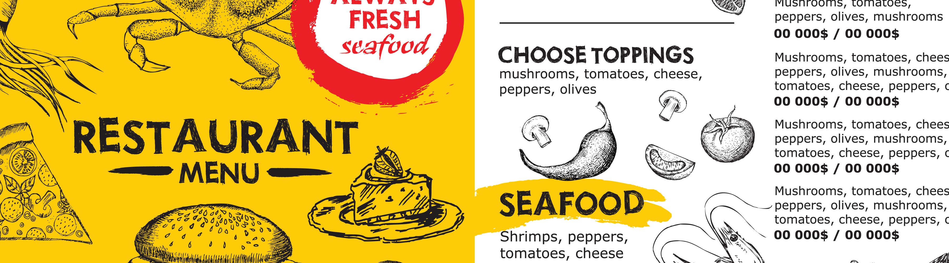 Créer des menus: exemples et explications